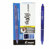 Frixion Clicker Gel Pen Fine Point 12/pkg Blue .07mm