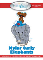 Mylar Embroidery CD Designs Mylar Curly Elephants