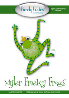 Mylar Embroidery CD Designs Mylar Freaky Frogs