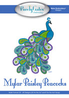 Mylar Embroidery CD Designs Mylar Paisley Peacocks