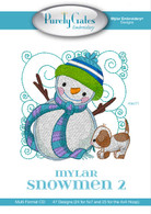 Mylar Embroidery CD Designs Mylar Snowmen 2