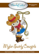 Mylar Embroidery CD Designs Mylar Swirly Cowgirls