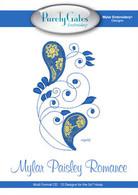 Mylar Embroidery Paisley Romance