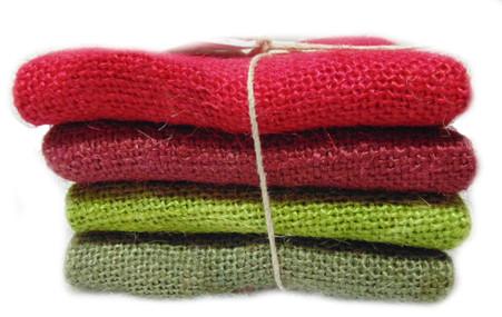 Hand Dyed Burlap Bundle Holiday