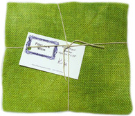 Hand Dyed Burlap Fat Quarter Kiwi