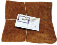 Hand Dyed Burlap Fat Quarter Old Gold