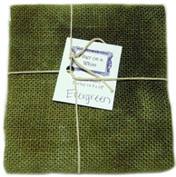 Hand Dyed Burlap Small Evergreen