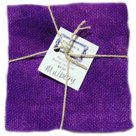 Hand Dyed Burlap Small Mulberry
