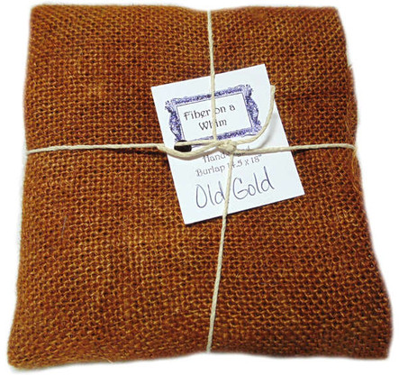 Hand Dyed Burlap Small Old Gold