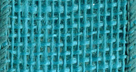 Burlap Wired Ribbon 1-1/2in x 10yd Turquoise