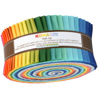 Roll Up Kona Solids Summer Colorway 40pcs