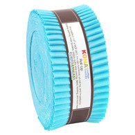 Roll Up Kona Solids Bahama Blue Color 40pcs 2-1/2in Strips