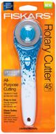 Fiskars Rotary Cutter 45mm Blue Floral Designer