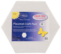 Placemat Craft Pack 15in x 17-1/4in Hexagon 4/pkg