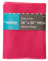 Mesh Fabric Medium Weight 36in x 50in Bright Pink