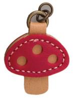 Red Mushroom Zipper Charm