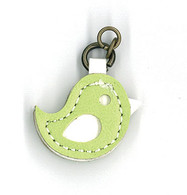 Green Bird Zipper Charm