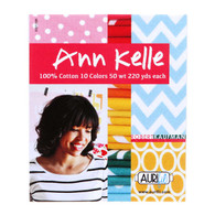 Aurifil Cotton 50 wt 10 Small Spools Thread Collection by Ann Kelle