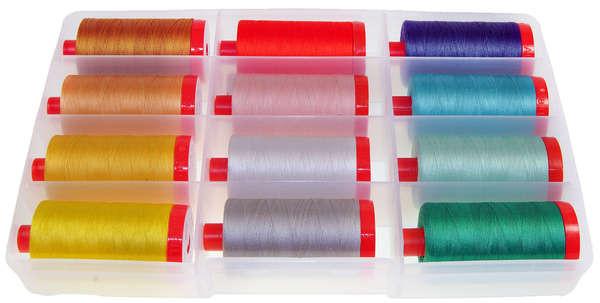 12 Large Spools Cotton Over the Rainbow by Edyta Sitar Aurifil Thread Set