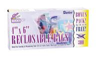 Reclosable Bags 4in x 6in 300/pkg