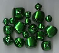 Jingle Bells Assorted sizes 19/pkg Green