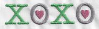 XOXO with Hearts