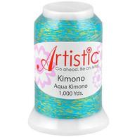 Janome Artistic Aqua Kimono Metallic Thread 1000 Yards