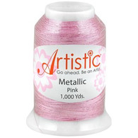 Janome Artistic Pink Metallic Thread 1000 Yards