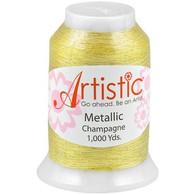 Janome Artistic Champagne Metallic Thread 1000 Yards