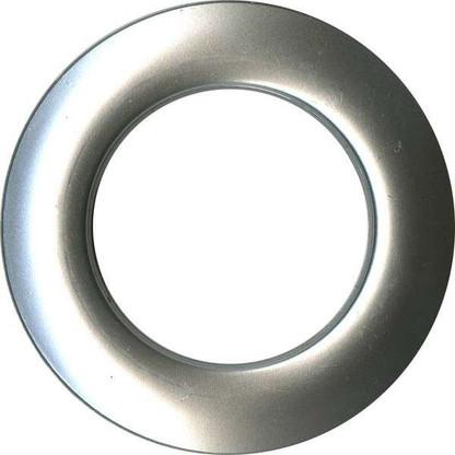 Grommets 40mm Round 8/pkg Matte Silver