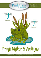 Frogs Mylar and Applique CD