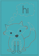 Hi Fox Greeting Card