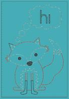 Hi Fox Greeting Card