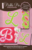 Monogrammed Mug Rugs with CD