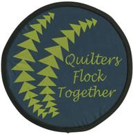 Quilters Flock Together Pocket Hand Fan
