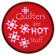 Quilter's are Hot Stuff Pocket Hand Fan