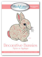 Decorative Bunnies Mylar or Applique Embroidery CD