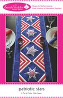 Patriotic Stars Table Runner Applique Pattern