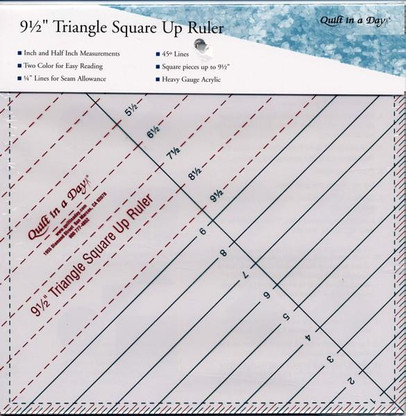9.5in Triangle Square Up Ruler