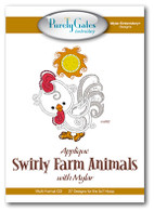 Applique Swirly Farm Animals with Mylar with CD