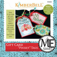Gift Card Pocket Tags Machine Embroidery CD
