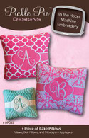 Piece Of Cake Pillows - In the Hoop Embroidery with CD