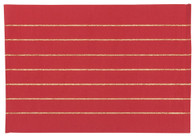 Tinsel Stripe Placemats Chili