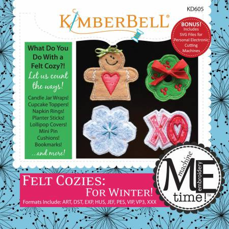From Kimberbell Machine Embroidery CD For Summer Felt Cozies