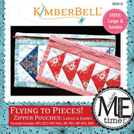 Flying to Pieces Zipper Pouch Large and Jumbo Machine Embroidery CD