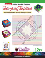Folded Star Pin Cushion Template 12/pkg