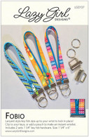 Fobio Lanyard Pattern with Key Fob Hardware Nickel