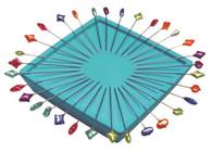 Zirkel Magnetic Pin Holder Turquoise Blue