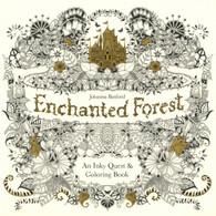 Enchanted Forest: An Inky Treasure Hunt and Coloring Book
