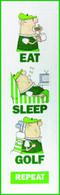 Eat, Sleep, Golf Wall Hanging Quilt Applique Pattern